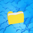 Royalty-Free Stock Photo: 3d cloud computing with folder