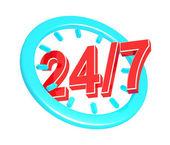 Twenty four hour seven days a week service sign — Stock Photo