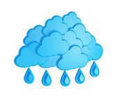 Cloud and rain - weather forecast symbol on a white background — Stock Photo
