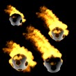 Flying soccer ball in fire — Foto de stock #15640279