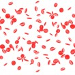 Red blood cells isolated on white — Stock Photo
