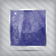 Finger print icon on the striped background — Stock Vector