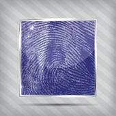 Finger print icon on the striped background — Stockvektor