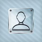 Transparenz-person-symbol auf einem gestreiften hintergrund — Stockvektor