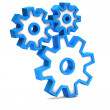 Blue icon with gears on a white background — Stock Photo #31929081