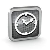 3d metallic watch icon on a white background — Stock Photo