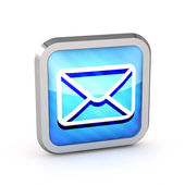 Blue striped email icon on a white background — Stock Photo