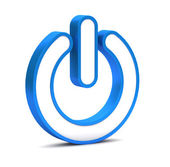 Power button icon on ta white background — Stock Photo