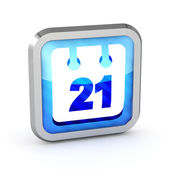 3d blue striped date icon on a white background — Stock Photo