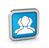 Blue user group web icon on a white background — Stock Photo