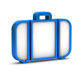 Blue baggage icon on a white background — Stock Photo