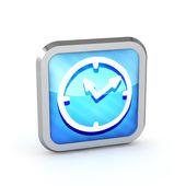 Modré pruhované hodinky ikona na bílém pozadí — Stock fotografie