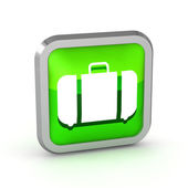 Green baggage icon on a white background — Stock Photo