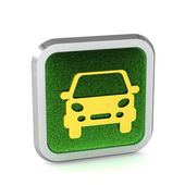 Grass car button icon on a white background — Stock Photo