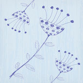 Ilustração de fundo de flores bonito doodle — Vetorial Stock