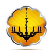 Icono brillo rayas naranja sobre un fondo blanco — Vector de stock