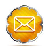 Orange mail icon isolated on white — Stock Vector