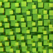 Green cubes abstract background — Stock Photo