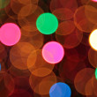 Stock Photo: Abstract blurred circular bokeh lights background