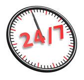 Twenty four hour seven days a week service — Stock Photo
