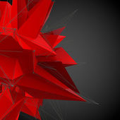 Abstract red modern triangular shape — Stock Photo