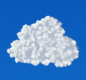 Cloud icon on a blue background — Stock Photo