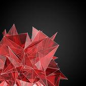 Abstracte rood glas moderne driehoekige vorm — Stockfoto