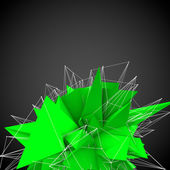 Abstract green modern triangular shape — Stock Photo