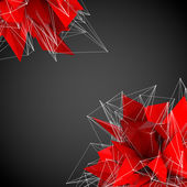 Abstract red modern shapes on a black background — Stock Photo