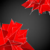 Abstract red modern triangulation shapes — Stock Photo