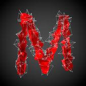 Rojo moderno forma triangular de la letra — Foto de Stock
