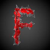 Red modern triangular shape of letter — Stock Photo