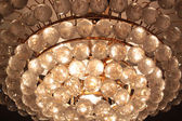 Close-up of a beautiful crystal chandelier — ストック写真