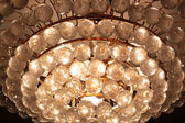 Close-up of a beautiful crystal chandelier — Stok fotoğraf
