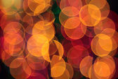 Abstract blurred circular bokeh lights background — Stock Photo