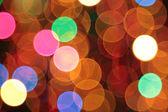 Colourful christmas lights bokeh background — Stock Photo