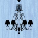 Silhouette of luxury chandelier — Stock Vector #40830155