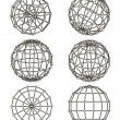 Wire-frame elements in the form of sphere — Vector de stock #40830593
