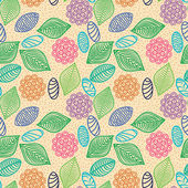 Colorful seamless pattern of flowers — Stock Vector