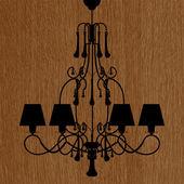 Luxury chandelier silhouette — 图库矢量图片