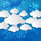 Kerstmis sneeuw achtergrond — Stockvector