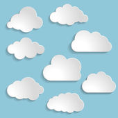 Vector illustration of clouds collection — Stock Vector