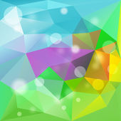 Abstract Colorful Triangle Polygonal Background — Stock Vector