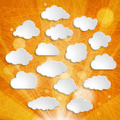 White clouds collection — Stock Photo