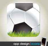 Soccer and sports app icon for mobile devices — Stock Vector