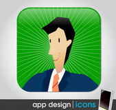 Business app icon for mobile devices — Stock Vector