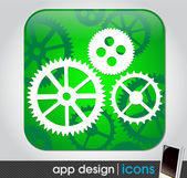 Technical app icon for mobile devices — Stock Vector