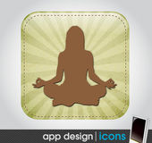 Yoga app icon for mobile devices — Stock Vector