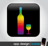 Drink app icon for mobile devices — Stock Vector