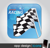 Racing sport app icon for mobile devices — Stock Vector
